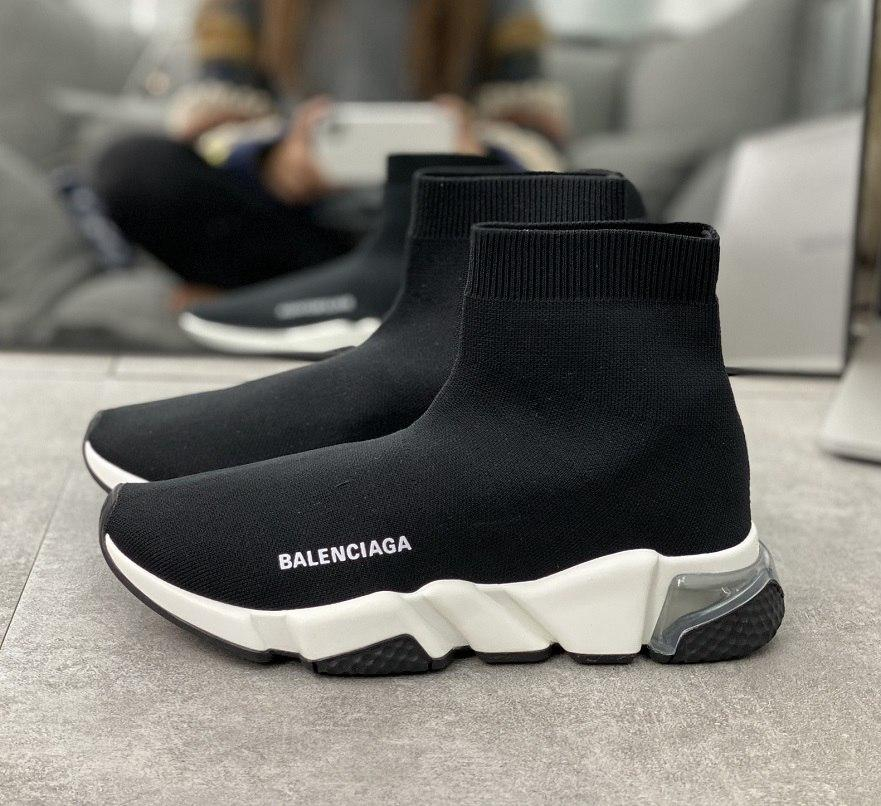 2021 Balenciaga designer men women Air cushion shoe speed trainer sock boots Elastic knitted surface socks boot casual shoes runners runner sneakers 36-45