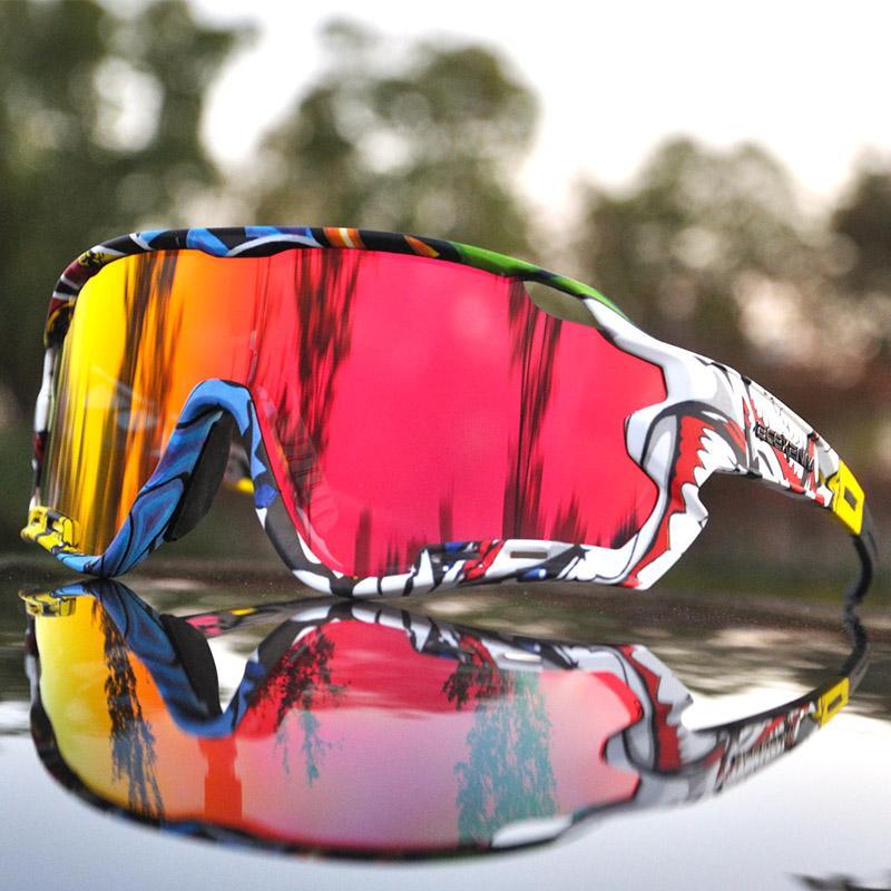 النظارات الشمسية ACEXPNM الاستقطاب الدراجات الجبلية الدراجات نظارات الرياضة ركوب الدراجات نظارات uv400 4 عدسة الدراجات النظارات الرجال النساء