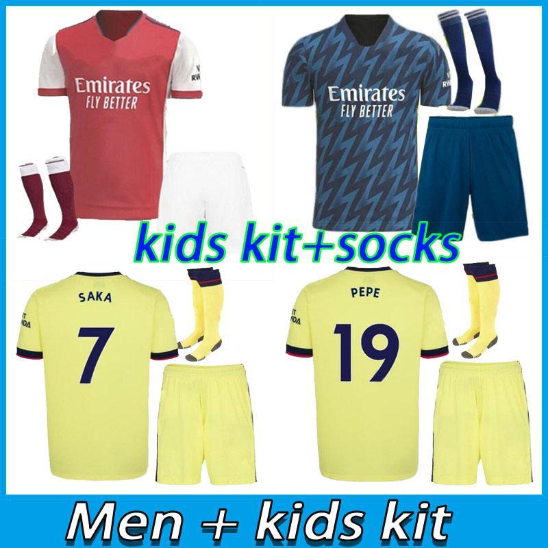 الرجال + أطفال كيت أرسن لكرة القدم جيرسي 21 22 Ødegaard pepe ساكا توماس ويليان نيكولاس تيرني الفانيلة 2021 2022 الكبار طفل كرة القدم قميص
