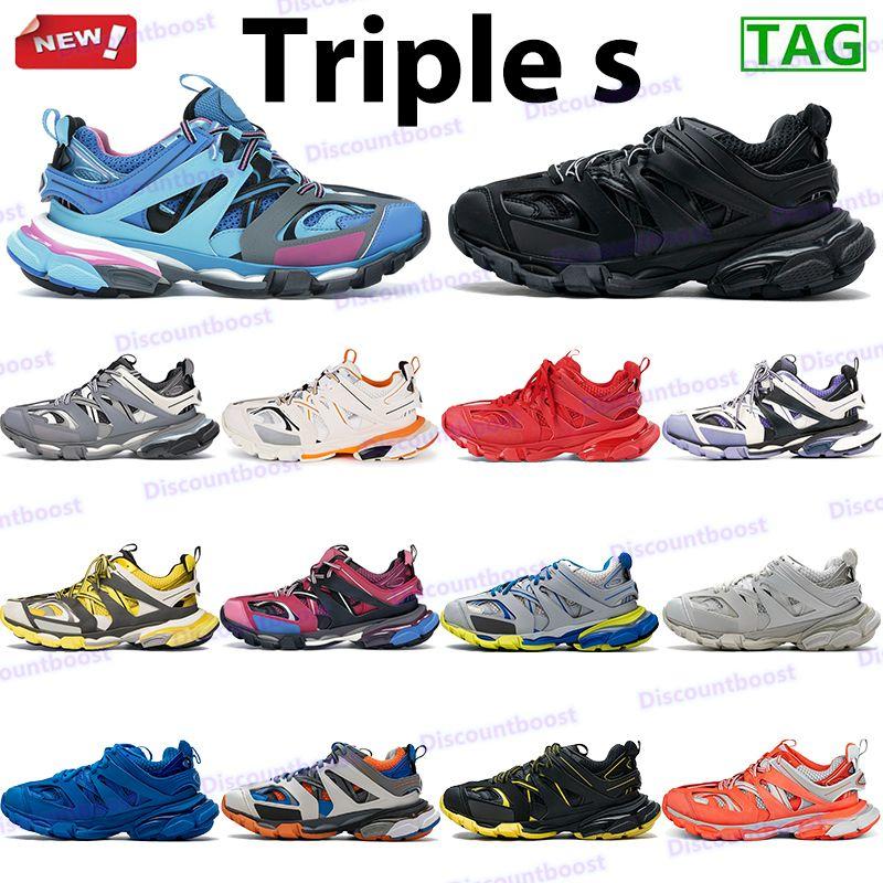 Triple-S أبي أحذية الرجال النساء الأزياء عارضة أحذية رياضية عداء الأزرق الجير الثلاثي رمادي أبيض أسود رجل مدربين الكلاسيكية منصة chaussures