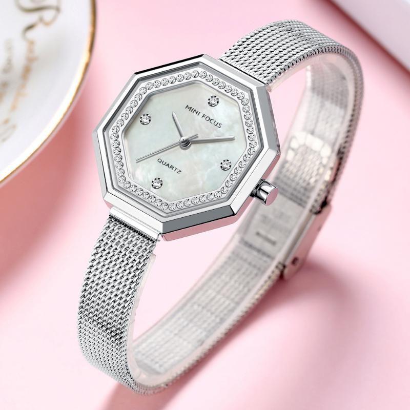 Armbanduhren Mini Focus Womens Uhren Top Marke Mode Luxus Quarz Armbanduhr Diamant Wasserdichte Damen Kleid Uhr Relojes Feminino 202