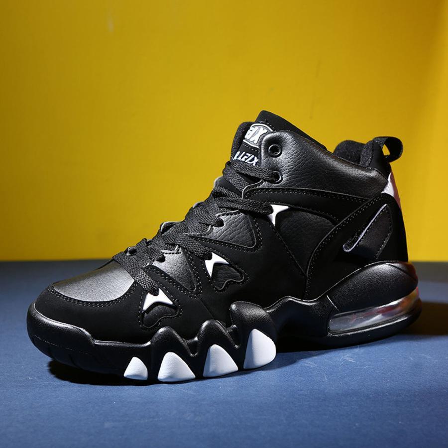 Outono alto superior e inverno grande 47 esportes homens amortecendo almofada de ar versátil sapatos de basquete putian mt08