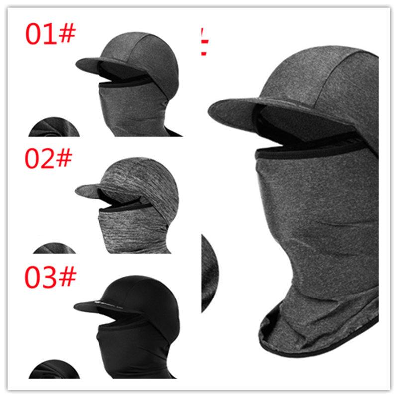 2021 Summer Sun Protection Cooling Head Cover Cycling Caps Mask with Brim Ice Silk Water Absorption Ventilation