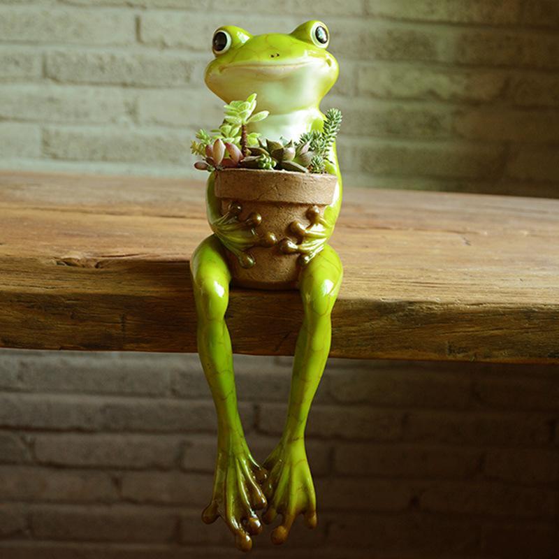 Everyday Collection Home Decor Mini Flower Pot Fairy Garden Animal Frog succulent pot Outdoor Decoration Clay Flowerpot 710 V2