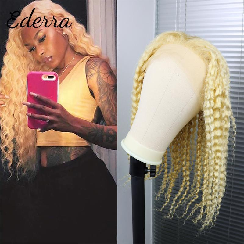 Parrucche di pizzo 613 Miele Bionda Bionda Deep Wave Parrucca frontale 13x4 Chiusura riccia dei capelli umani anteriori per le donne nere