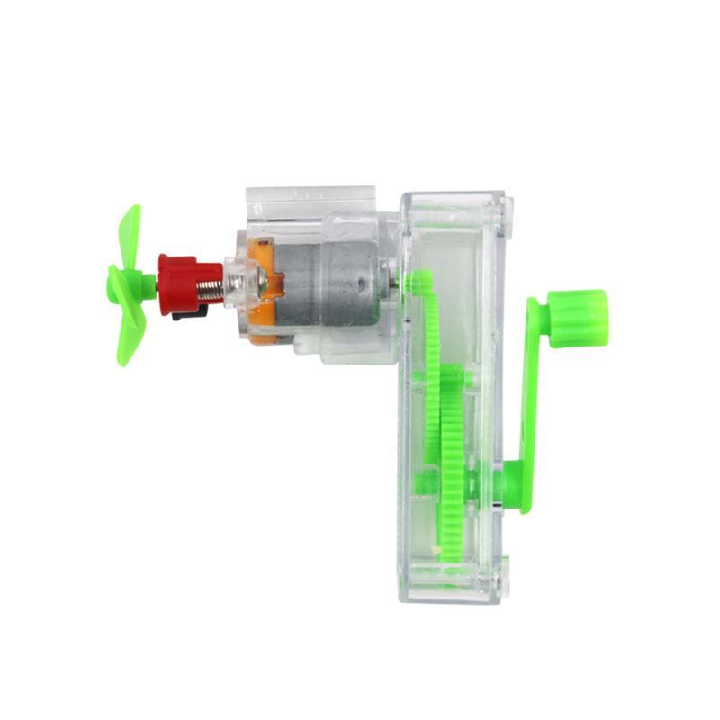 Petite expérience de la science physique dans une coquille transparente de générateur à commande manuelle détachable