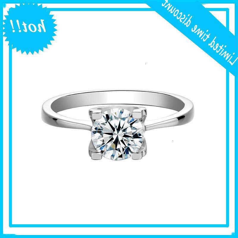 Boeycjr 925 prata 1ct d cor moissanite EUA Noivado anel de casamento com certificado nacional para mulheres venenos