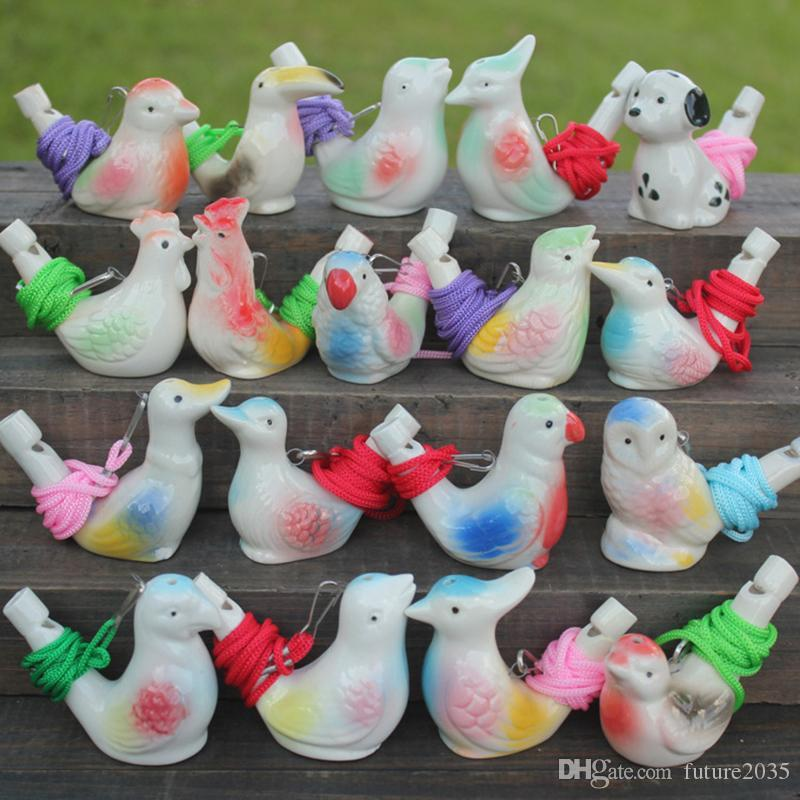 Creative Water Bird Whistle Clay Birds Ceramic Glazed Song Chirps Bathtime Kids Toys Gift Christmas Party Favor