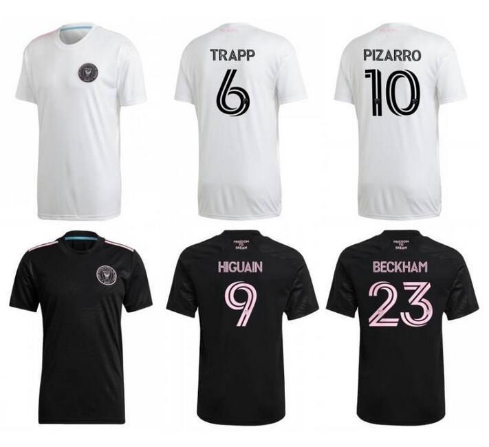 メンズインターマイアミCFブラック2021就任23ベッカムカスタマイズタイ料理Qualys 10 Pizarro Personalized 11 Pellegrini 21 Carranza Wear