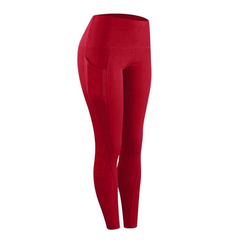 Leggings Women Workout Out Pocket Fitness Sports Running Yoga Athletic Pants Casual Deporte Sportswear Woman Women's