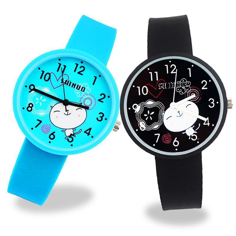 Jungen Mädchen Studentenuhr Mode Frauen Uhr Luxus Analog Quarz Handgelenk Für Kinder Kinder Geschenk Damen Armbanduhren