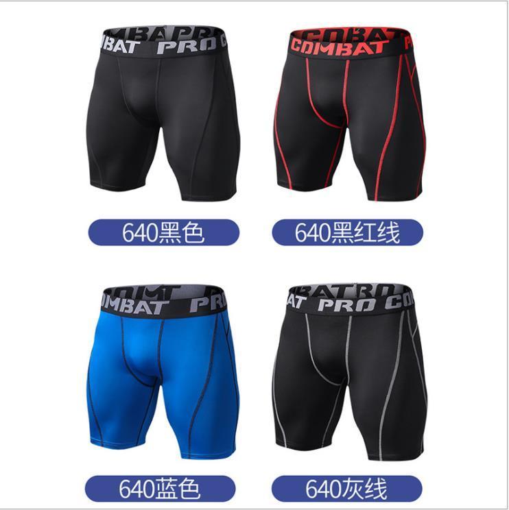 Esportes apertados shorts homens de fitness dos homens respirável de secagem rápida