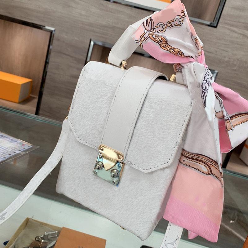 Box Design Phone Bag Fashion Letter Crossbody Bags Genuine Leather Women Handbags Flap Messenger Handbag Golden Hasp Clutch Detchable Shoulder Strap Wallets Scarf