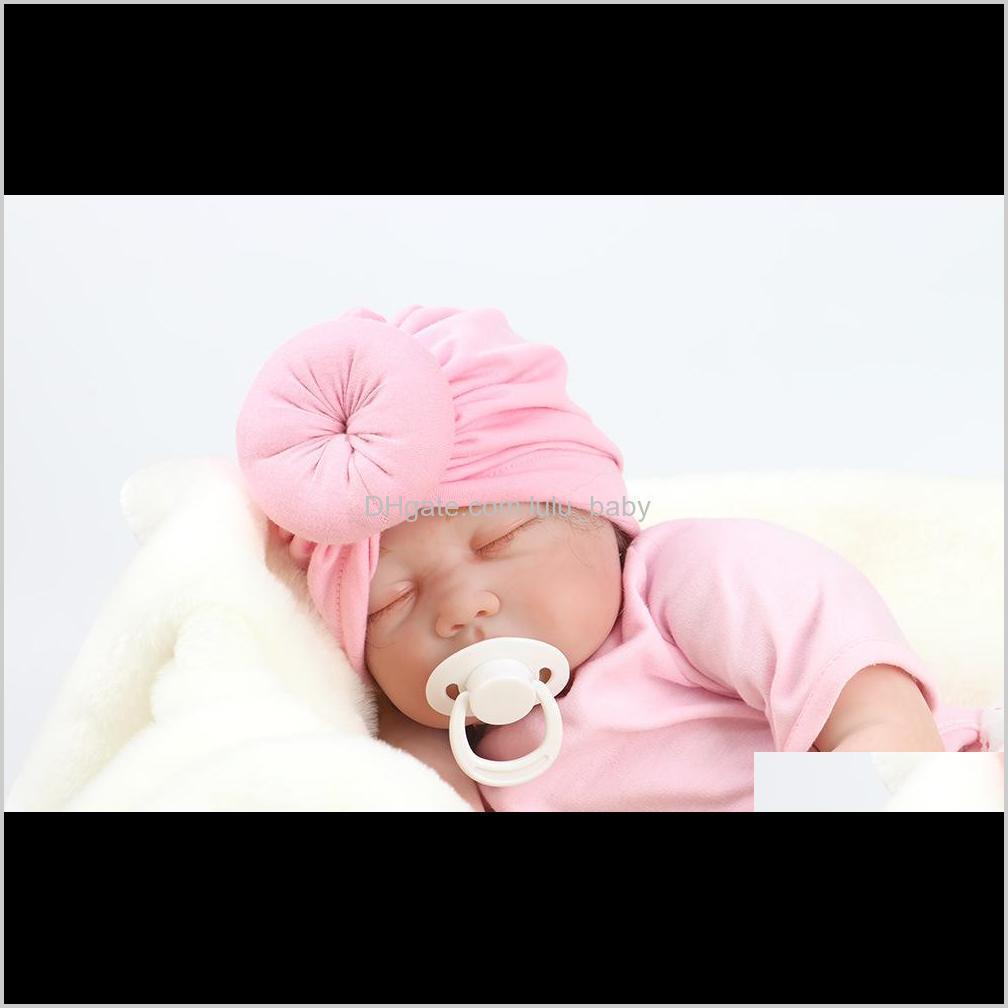 Bambino Bambino Bambini Rose Bowknot Soft Cotton Blend Cappello Cappelli Abbigliamento Accessori regalo di compleanno di Natale 12 colori in magazzino I8WRA 917NW