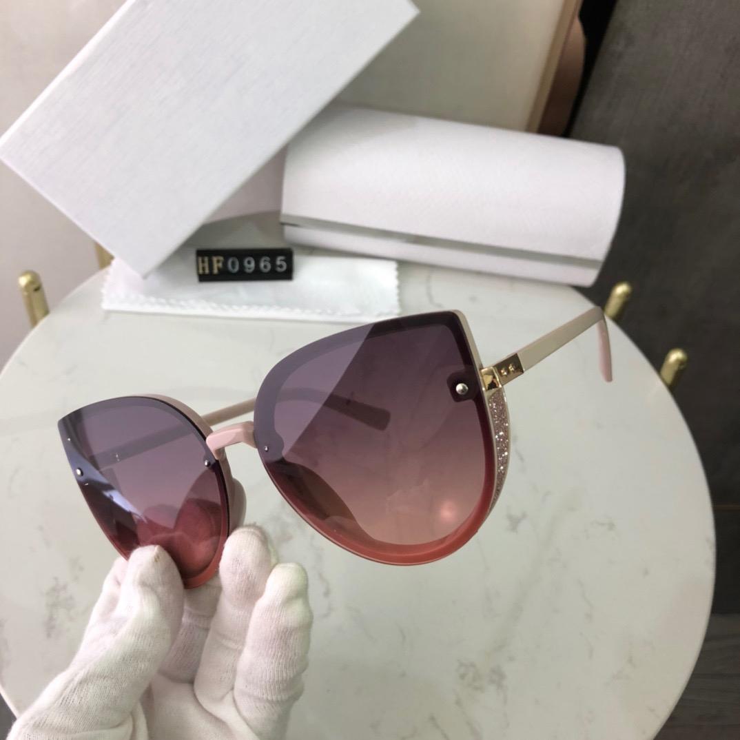 2021 Marka Güneş Güneş Gözlüğü Lüks Sürüş Ayna Kare Kedi Göz Çerçeveleri Spor 0965 Polarize Gözlük Siyah Tasarımcı Kadınlar Için Çerçeve Goggle UV400