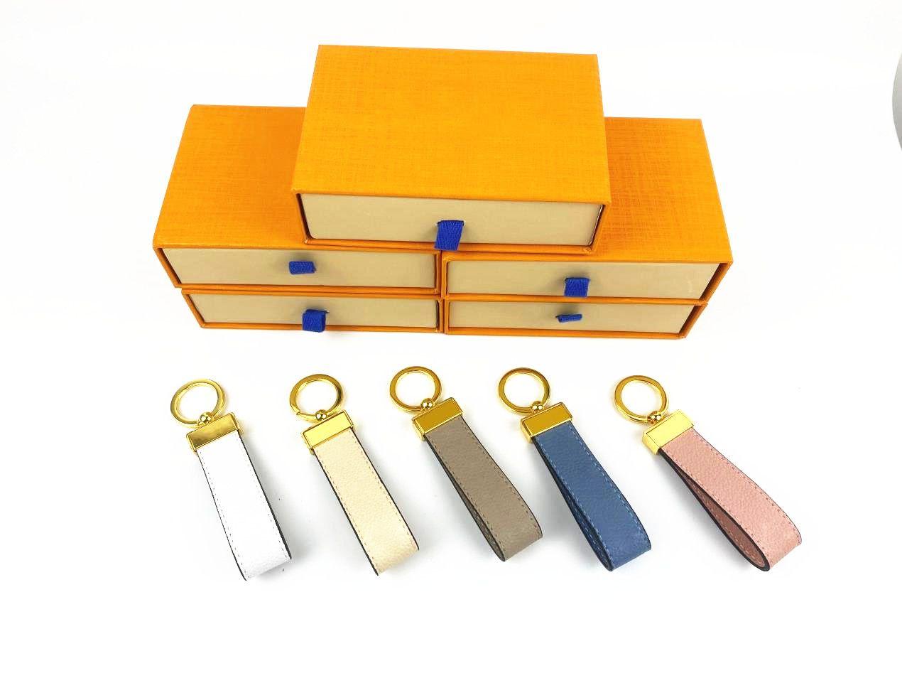 Maxi Dragonne 키 체인 버클 애호가 자동차 디자이너 키 체인 수제 가죽 모노그램 키 체인 남자 여성 가방 펜던트 액세서리 6 색 상자
