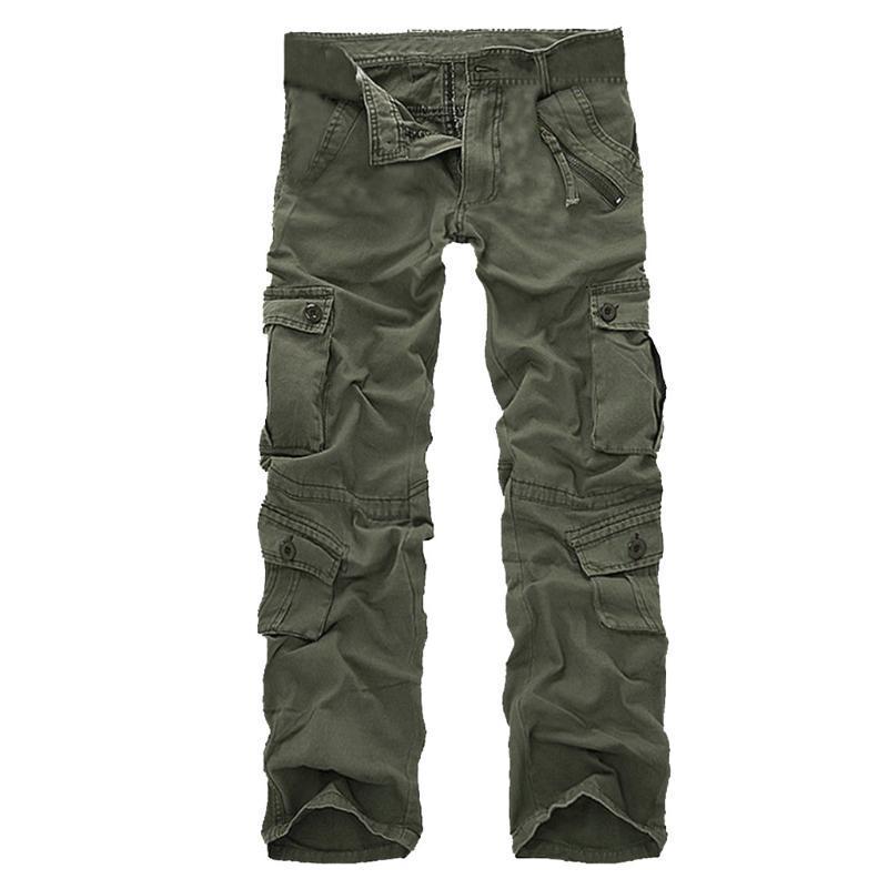 Taktik Kargo Pantolon Erkekler Moda Çok Cep Açık Havada Çalışma Pantolon Erkek Açık Hiking Trekking Rahat Pantolon # G30 Erkek