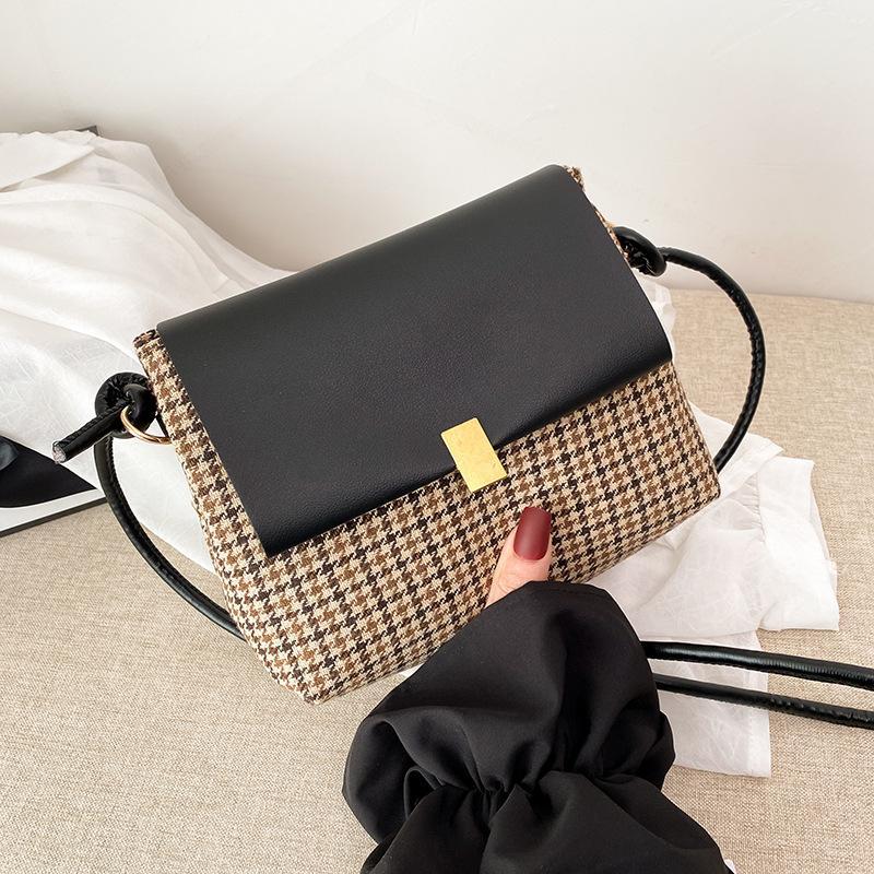 2021 المرأة الأزياء حقيبة الكتف خمر نمط حقيبة عالية الجودة بو الجلود حقائب crossbody