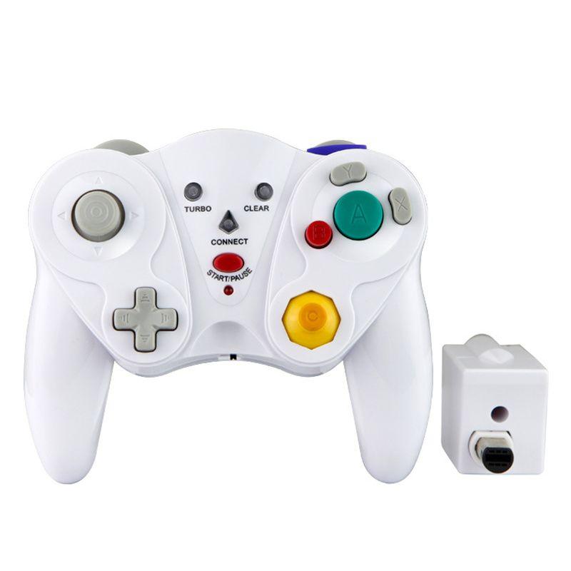 Game Cube Wireless Controller NGC Joystick Gamepad Joypad per Nintendo Host / Wii Console Games con scatola al dettaglio bianco