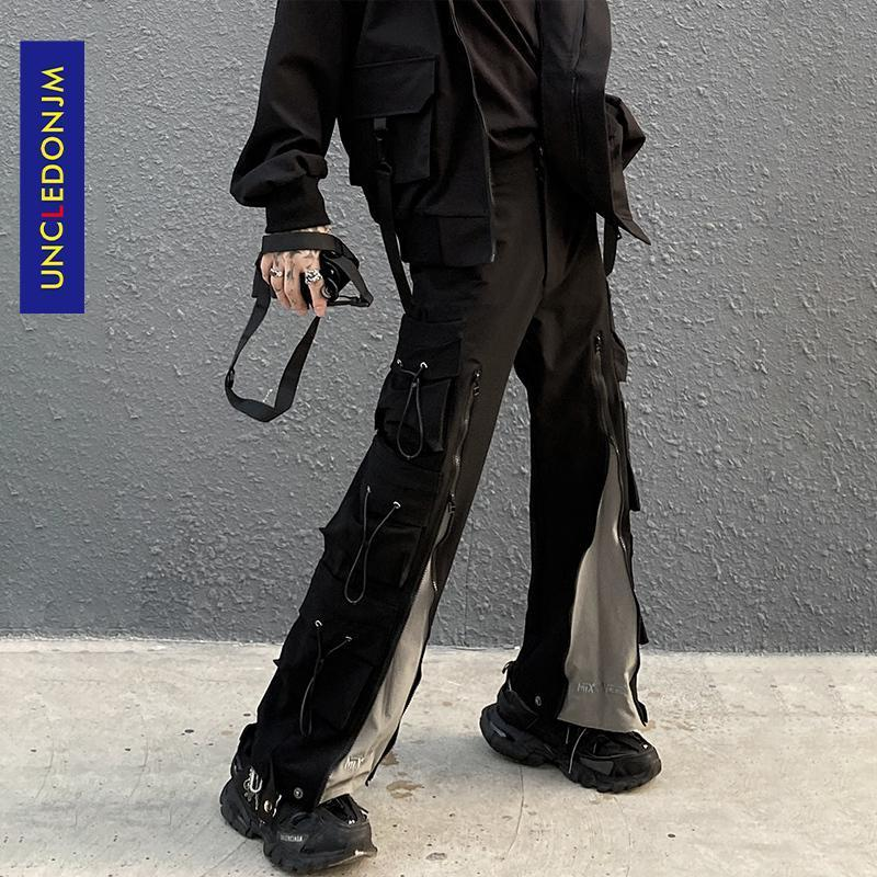Pantalon de chargement design de concepteur de concepteur de concepteur de concepteur d'hommes Harajuku Fashion Streetwear Joggers Pantalon de moto HIP HOP Pantalon pour Hommes Ukz10