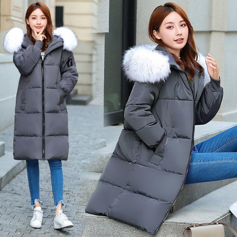 2021 nuovo lungo colletto di pelliccia inverno di grandi dimensioni Donne down cotone imbottito cappotto donna calda