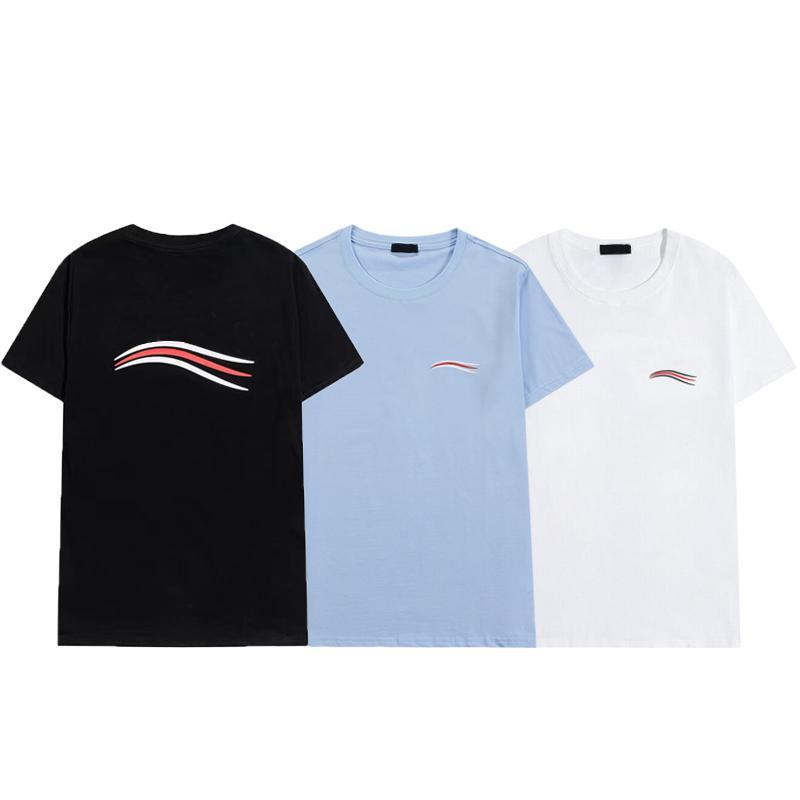 Herren T-Shirts Kurzarm Tees Männer Frauen Brief Drucken T-shirt 3 Farbe