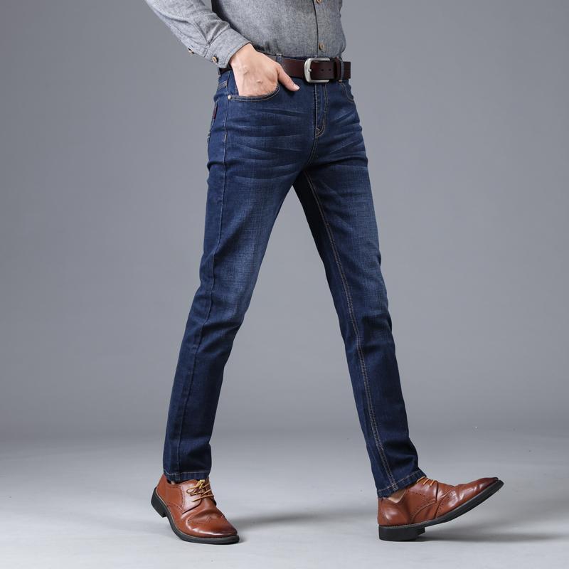 Marka Erkekler Kot Moda İş Klasik Tarzı Pantolon Bahar Sonbahar Yüksek Kalite Casual Denim Pantolon 009 Erkekler