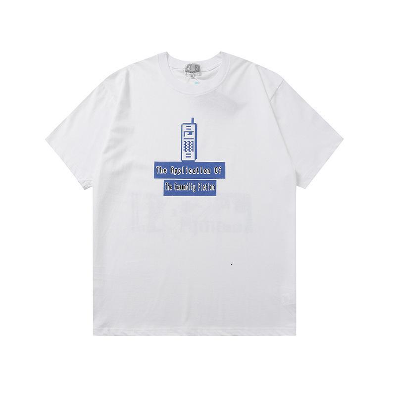 Şıkı C.E Yaz Kalesi Tepe Sınırlı T-Shirt Cep Telefonu Çift Baskı Kısa Kollu Trendy Tee Xuxk C65V