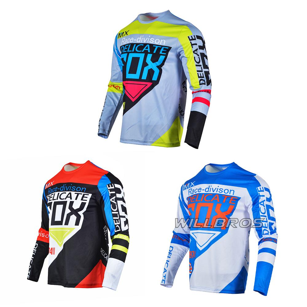 Délicat Fox 360 Division MTB / MX Racing Jersey à manches longues Crossy Downhill Moto Rouler