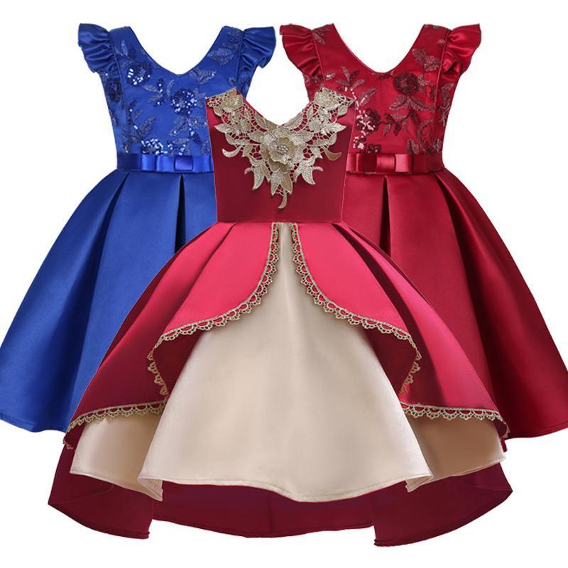 Vestidos da menina meninas vestido vestido de casamento crianças para elegante festa de aniversário princesa formal crianças roupas 2 3 10 anos