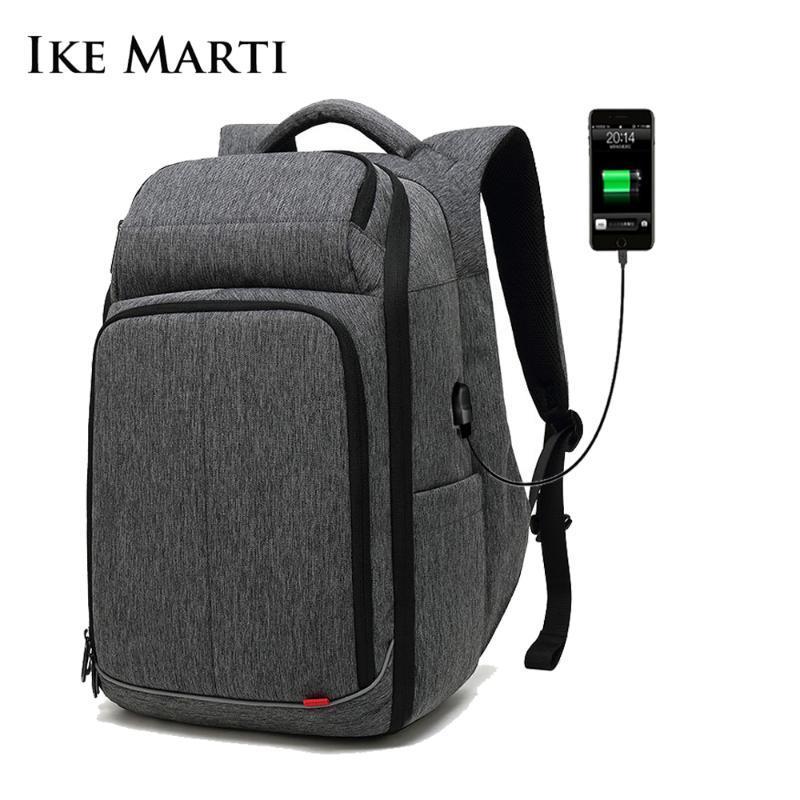 Mochila Ike Marti Bag Travel Man Luxury Grande Multifuncional Multifuncional BackMale Almuerzo 15.6 pulgadas Anti Robo Cuaderno Mochilas