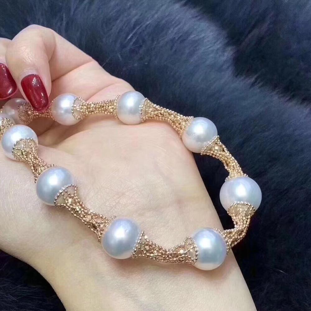 Collares D109 Joyería Natural Agua Fresca 10-13mm Peals Blancos Para Mujeres Fine Pearls