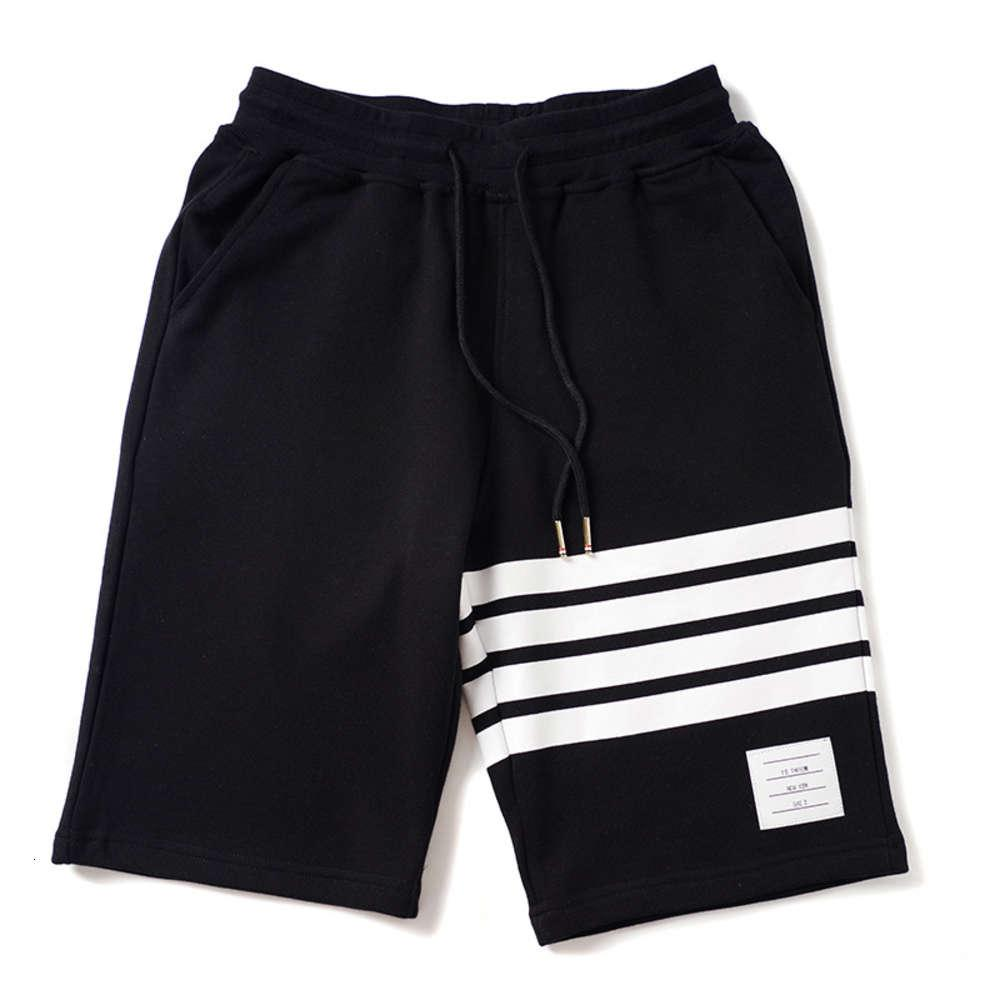 La spiaggia di alta qualità Summer Tide Brand TB Pantaloni da stampa a strisce di cotone puro, Capris, T-shirt manica corta, vestito coppia, camicia studente