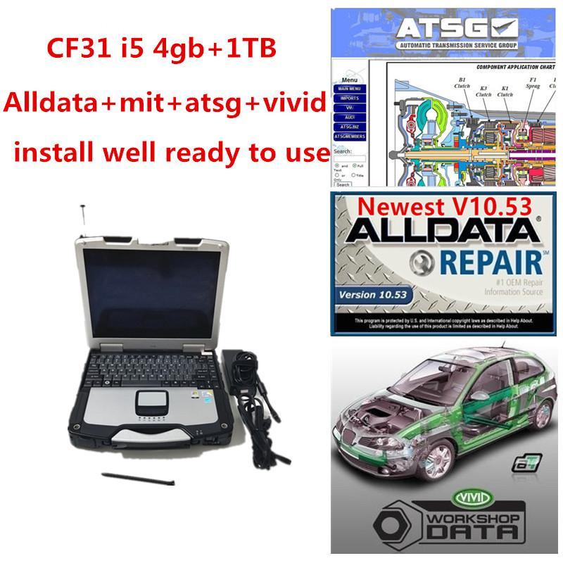 2020 Горячая распродажа Высокопроизводительные Teashbook CF31 Ноутбук I5 CPU 4 ГБ ОЗУ с 1TB HDD Alldata Soft-Ware MIT ... ELL ATSG Установите хорошо