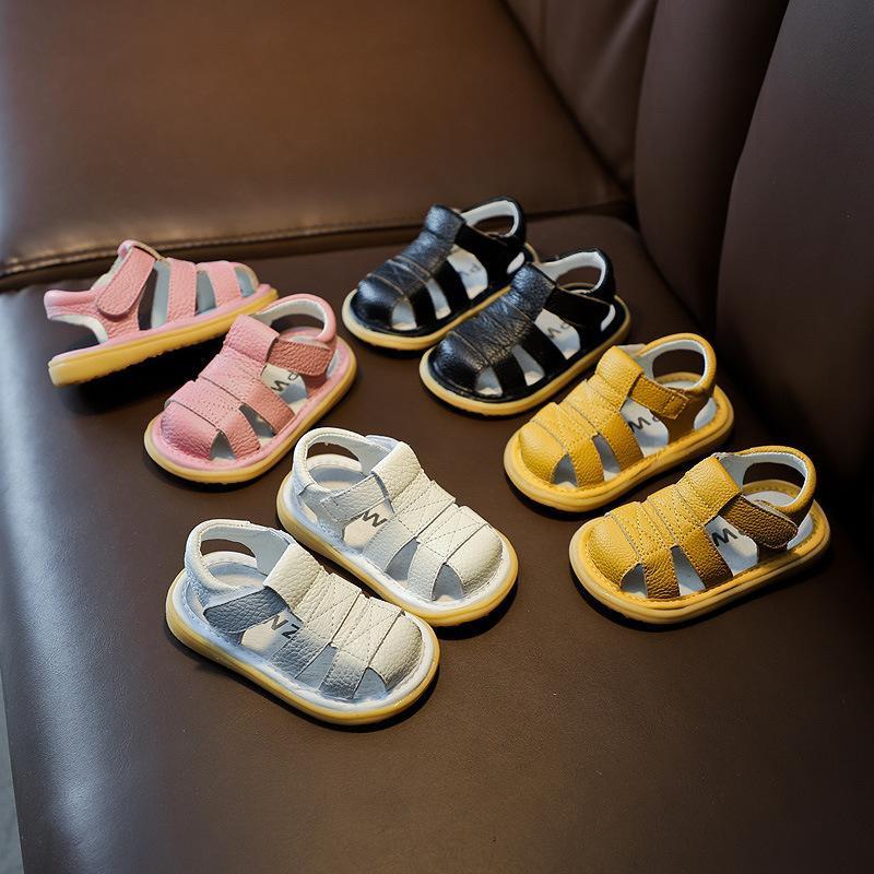 Sandales CSBL Sandalias Bébé Girls Garçons Enfants Infant Anti-Collision Toddler Chaussures Soft Bas En Enfants en cuir véritable