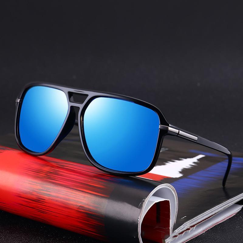 Lunettes de soleil polarisées Hommes surdimensionné Miroir carré Conduite Sun Lunettes Brandes Designer Retro Driver Sunglass UV400 Goggles