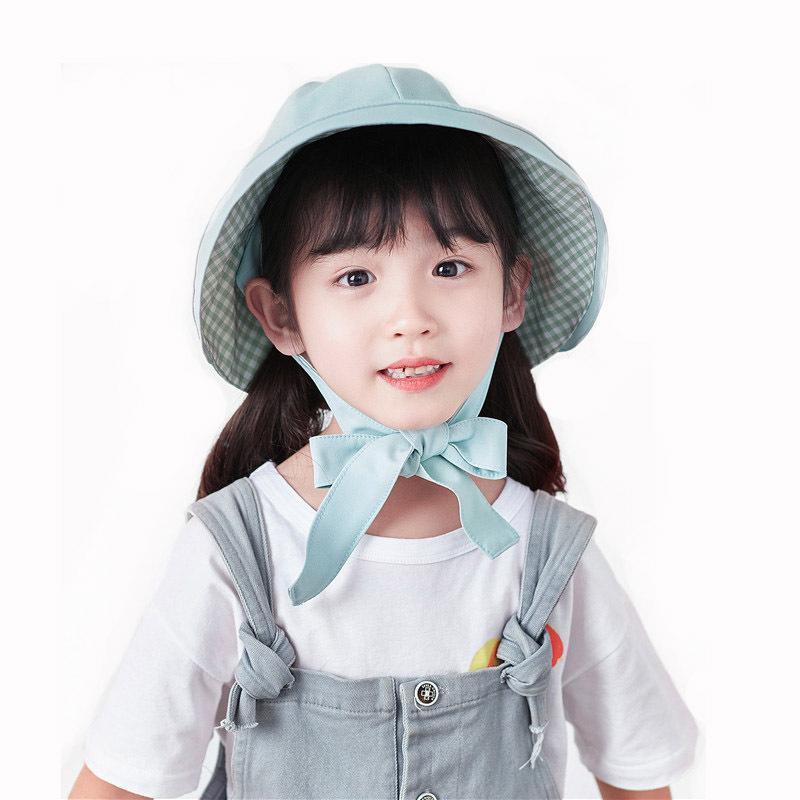 얇은 파나마 모자 모자 아이들의 양동이 모자 비치 모자 아기 소녀 태양 슈퍼 큰 여름 아이들 빈 탑