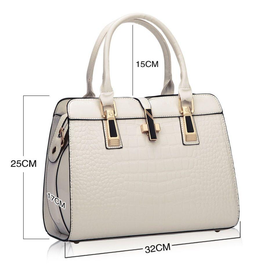 Moda Bolsa Ao Ar Livre Lazer Das Mulheres Totes Bag Crocodilo Padrão Grande Capacidade Design 32 * 25cm Senhora Sacos De Ombro