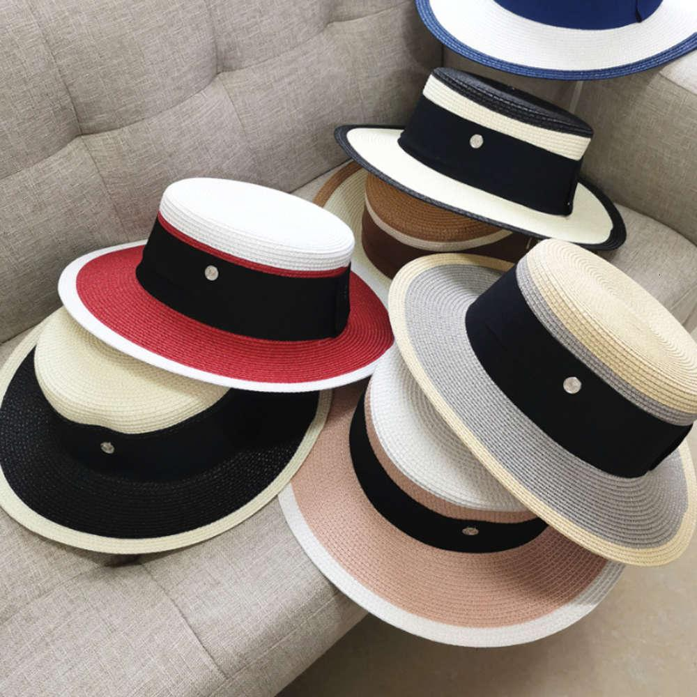İngiliz çok yönlü patchwork m-etiket düz saman çocuk üst yaz güneş koruma ve güneşlik plaj şapka