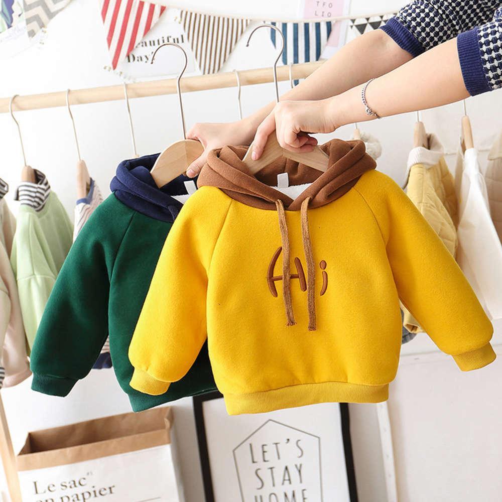 Kids Clothessweater Port de l'automne Hommes Pelucho-peluche hiver à capuchon et épaissi-épaissement