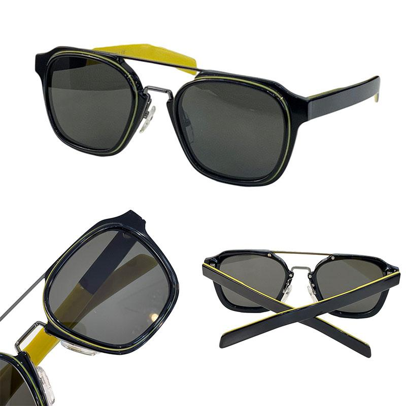 Erkekler ve Kadınlar için Güneş Gözlüğü Yaz Stil 07 WS Anti-Ultraviyole Retro Kare Plaka Tam Çerçeve Moda Gözlükler Rastgele Kutu