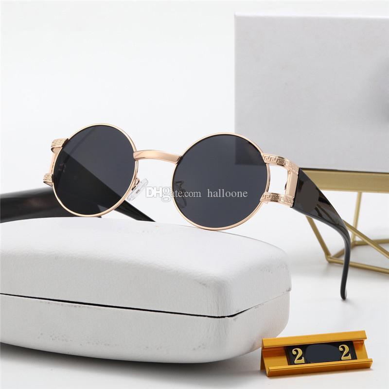 Dreifachfarbiger Rahmen Mode Luxus Sonnenbrille Designer Vintage Übergroße stilvolle Frauen Sonnenbrille UV-Proof HD-Linse komfortabel 0020