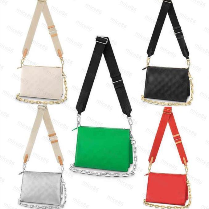 أعلى جودة حقيبة جلد طبيعي كوسين المرأة الرجال حمل crossbody مصمم الفاخرة الأزياء التسوق محفظة بطاقة جيوب حقيبة يد حقائب الكتف الأصل واحد مجانا