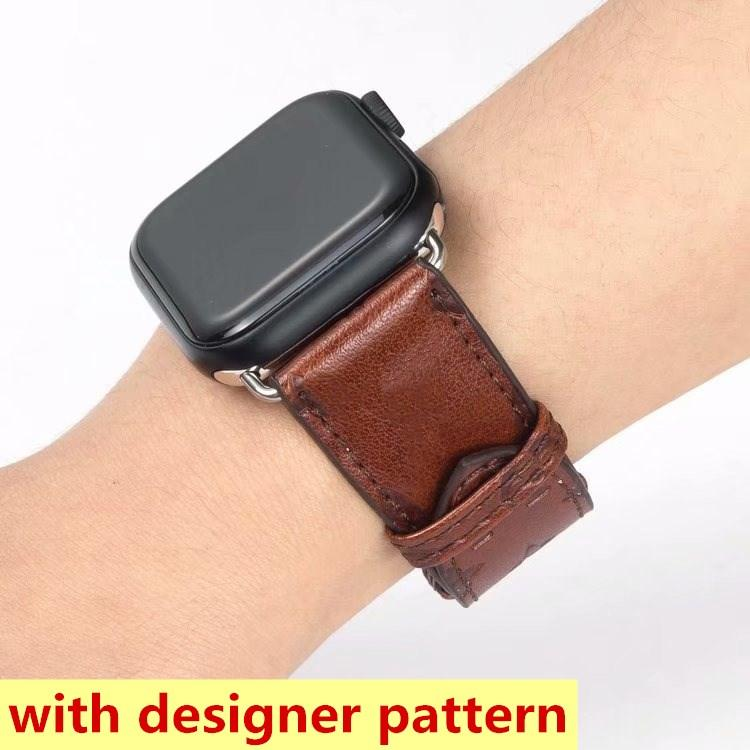 Mode-Designer-Uhr-Wickelgurte für iWatch-Serie 1 2 3 4 5 6 Top-Qualitäts-Leder-Smart-Bands Deluxe-Armband-Armband-Armband-Weckbänder tragbare Technologie