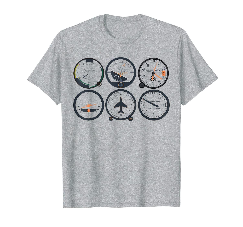 Piloto de seis piloto   Basic Six Instrumentos de vuelo Aviación Tee
