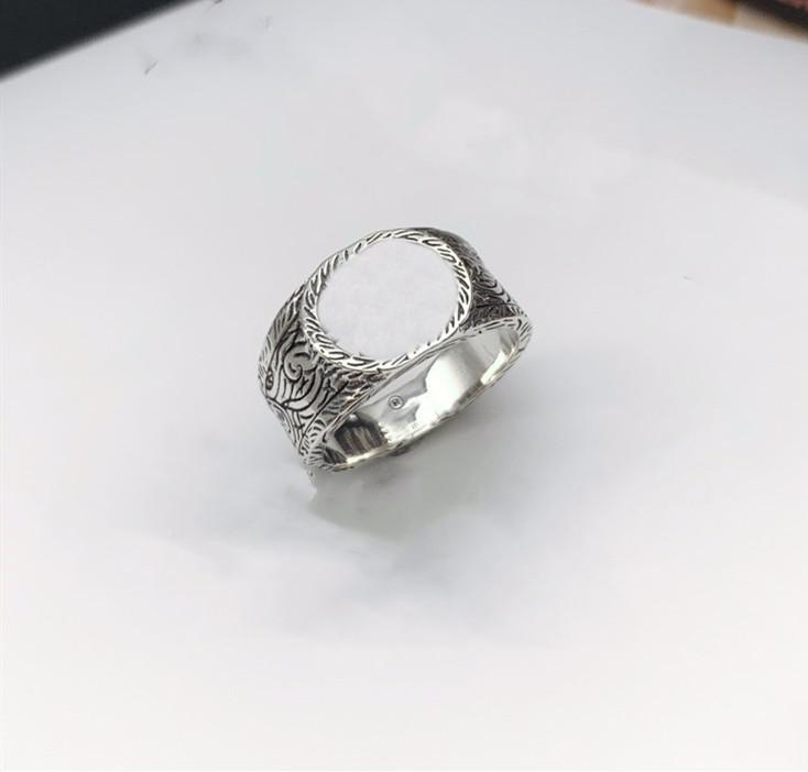 Best Product Top Quality Real 925 Sterling Silver Ring Top Design Ring Fashion Letter Couple Ring Fashion Jewelry Supply