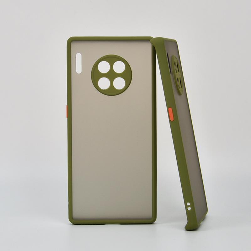Hud Känsla Ögonskydd Hybrid TPU + PC Matt Fodral Skydd för Huawei P30 Lite Mate 30 Pro 100pcs / Lot