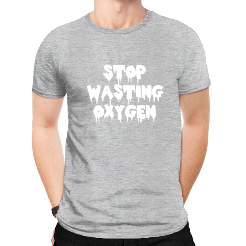 2021 Fashion Street T Shirt round Neck Letter Clothes Mens Trendy Casual T-shirt Pure Cotton