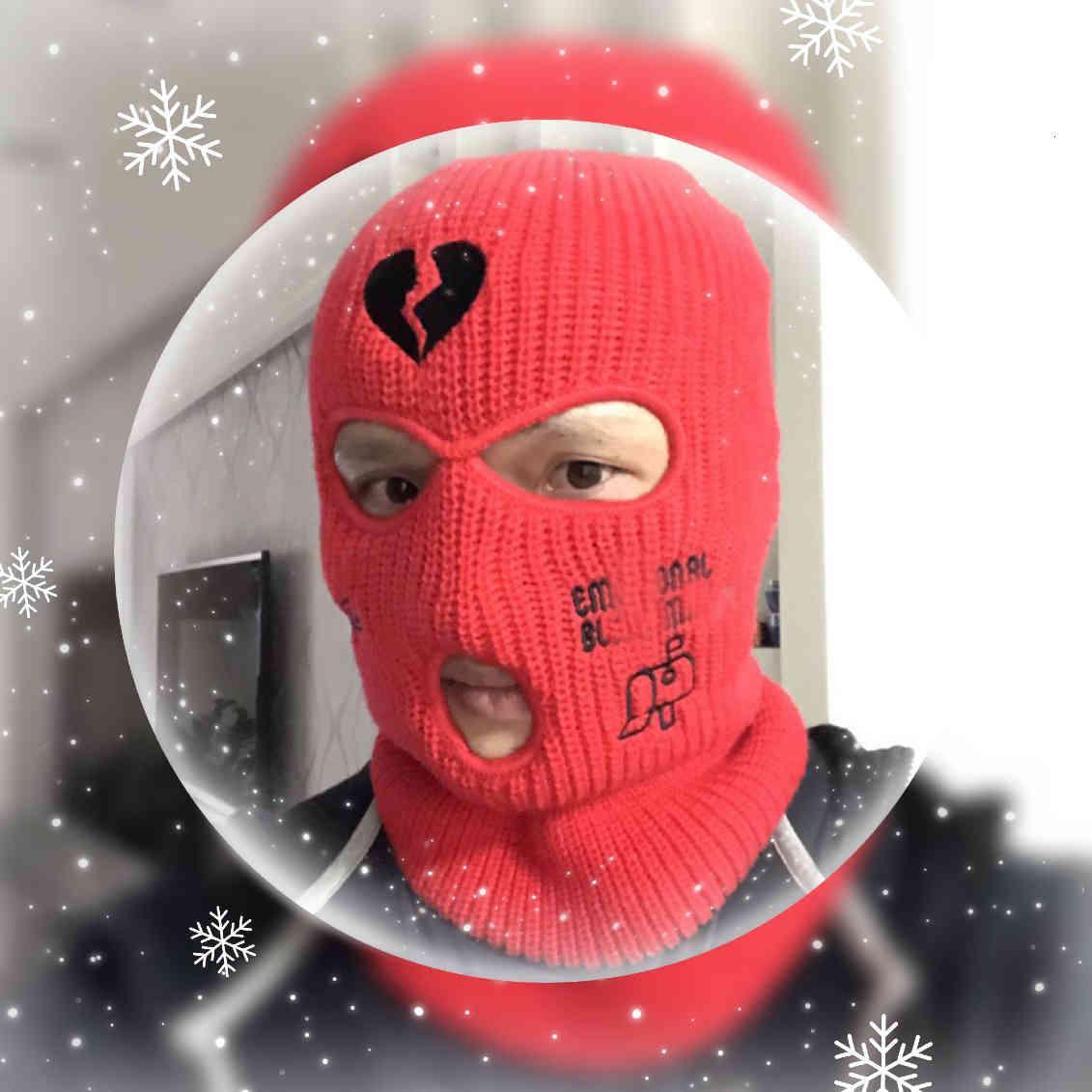Balaclava 3 النيون هول قناع التزلج أقنعة التكتيكية الوجه كامل الشتاء قبعة هالوين حزب أقنعة محدودة التطريز أعلى جودة بالجملة مصنع N8SM
