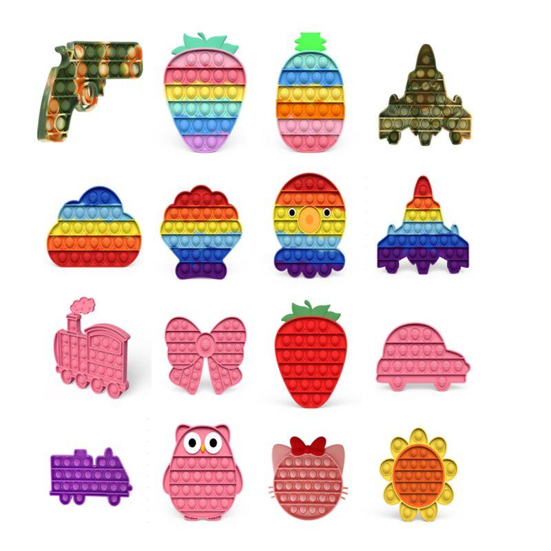 Pop Toys Zappeln Sinnes Sensorie Push Bubble Board Spiel Angst Stress Reliever Kinder Erwachsene Autismus Sonderbedarf Verkauf E84341